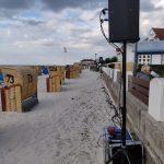 Beschallung am Strand